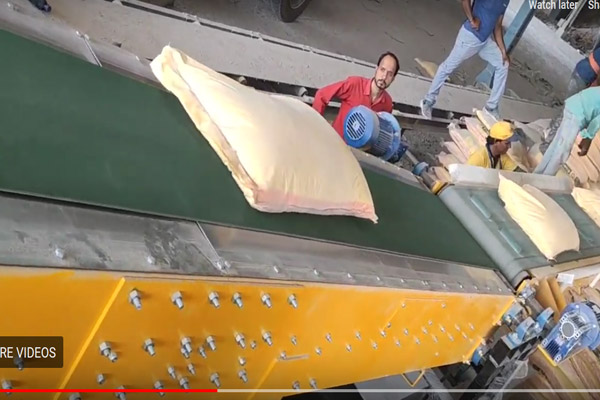 Truck Loading Conveyor MMC 16P-DC Auto (Telescopic - 1 Stage) for 50 Kg Bags