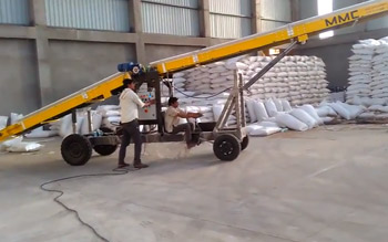 MMC Truck Loading Conveyor & Bag Stacker 16P DC Automatic