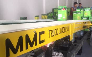 MMC Truck Loading Conveyor - Oil jar & Carton box Loading