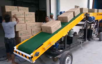 Truck Loading Conveyor Patanjali Atta Noodles Plant